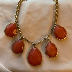 Fossil Drop Stone Necklace